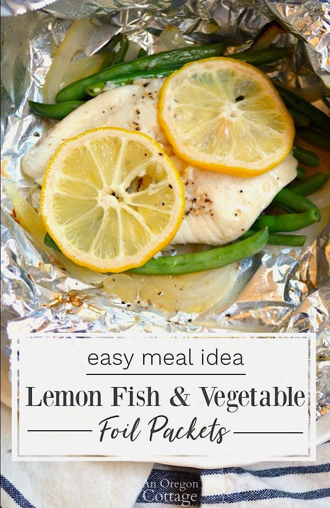Lemon Vegetable Fish Foil Packets grilled
