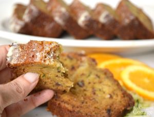 Orange Zucchini Bread bite