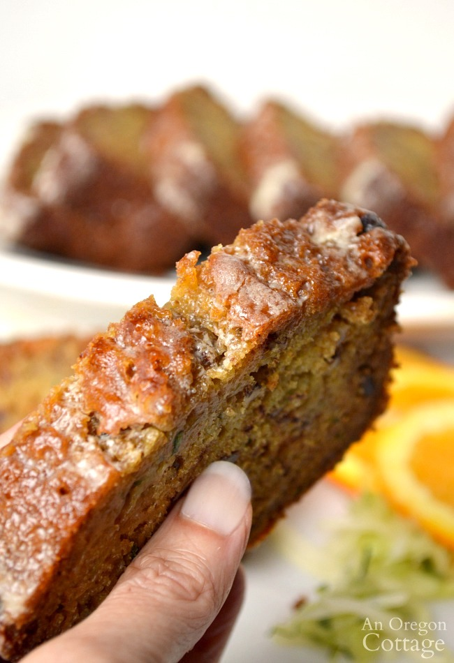 Orange Zucchini Bread Recipe slice
