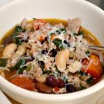 Rustic Italian Sausage Soup in bowl