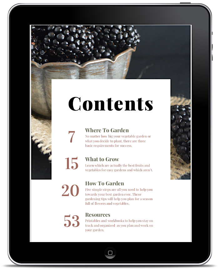 Vegetable Garden ebook contents