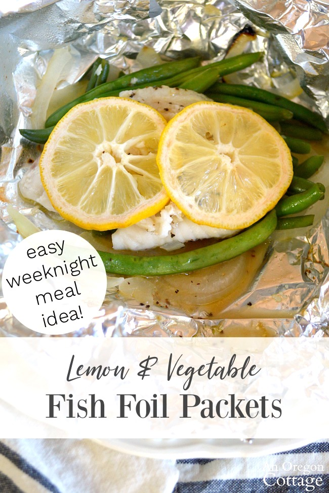 Lemon vegetable fish foil packets