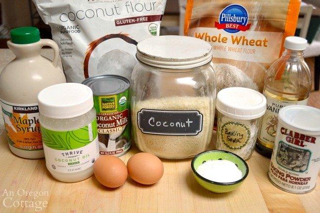 Coconut Bread Recipe ingredients