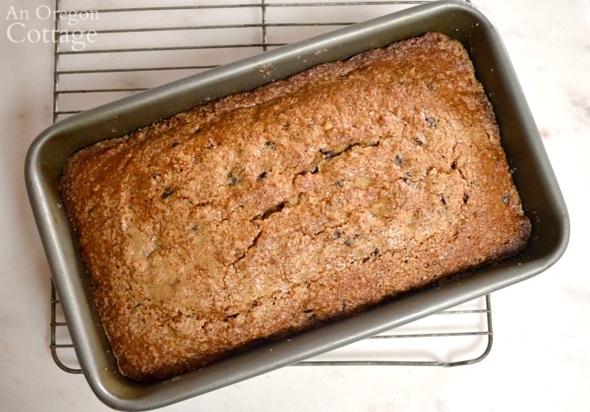 Cranberry Bread Recipe baked in pan