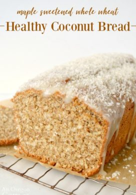 Maple Sweetened Healthy Coconut Bread recipe