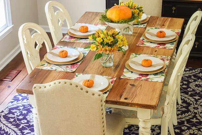 Pretty Handy Girl-fall-tablescape-orange-pumpkins