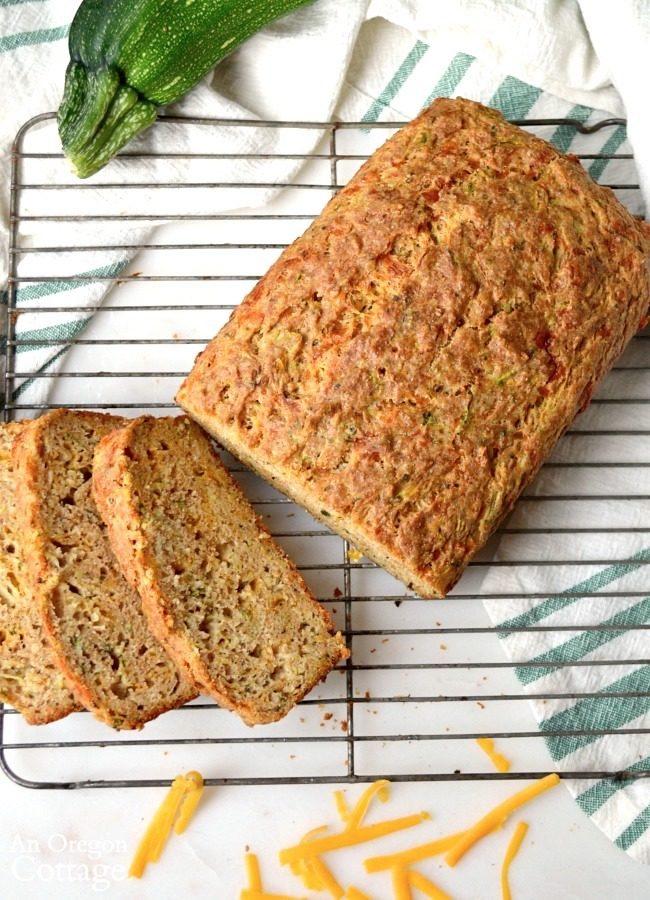 Savory Garlic Cheese Zucchini Bread