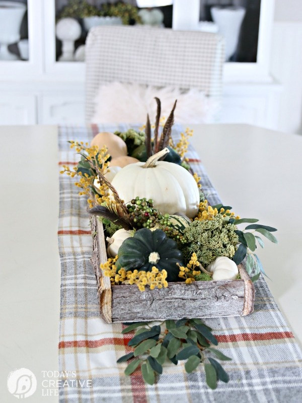 DIY Fall Decor Rustic Centerpiece