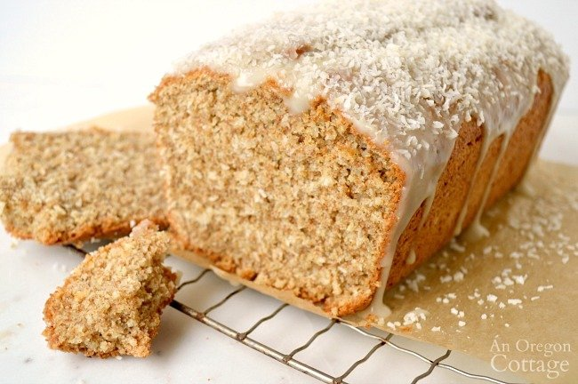 Whole Wheat Coconut Bread cut