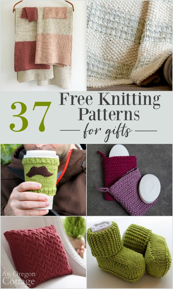 37 Free Knitting Patterns for Gifts