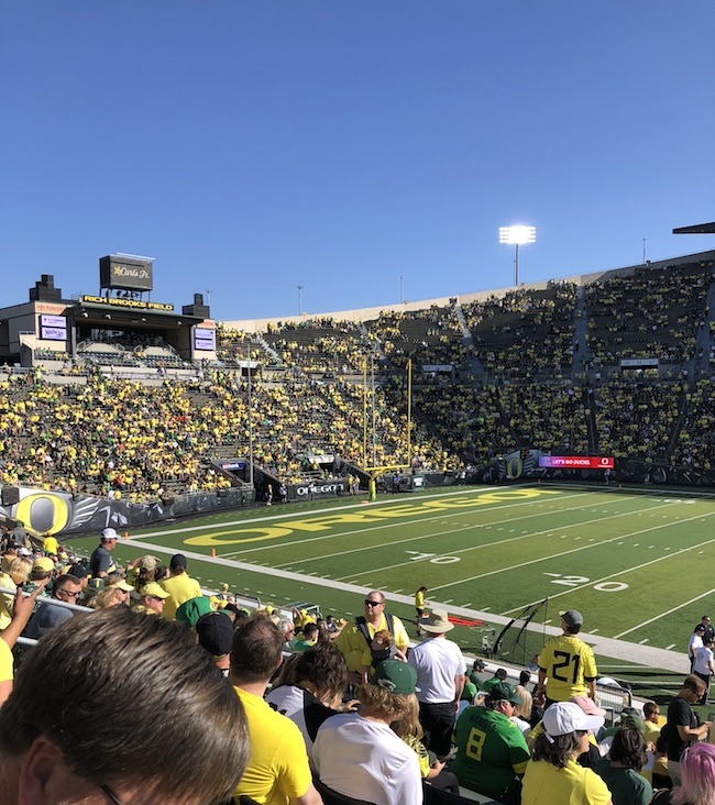 UO Duck Football Game