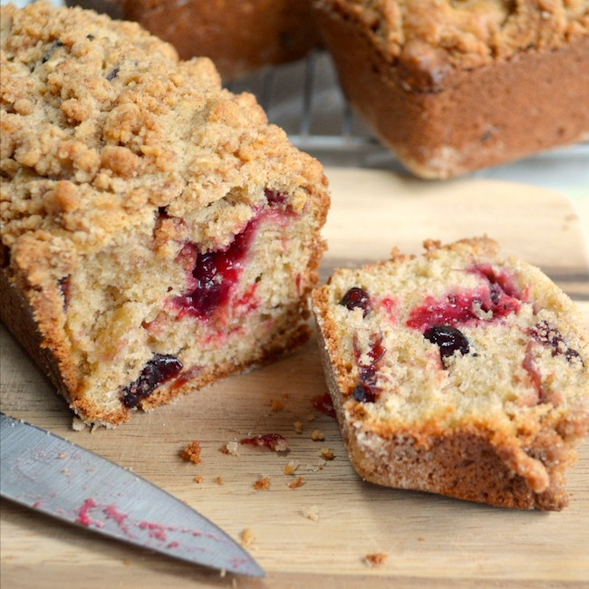 Bread Recipes Using Cranberry Sauce-Cranberry Crumb Loaves