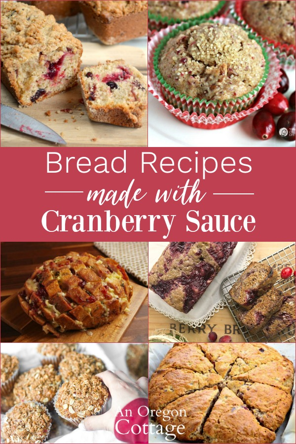 Bread Recipes Using Cranberry Sauce collage