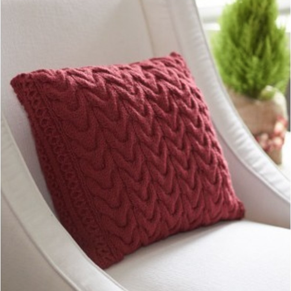 Knitted Cable Pillow Cover-Love Knitting