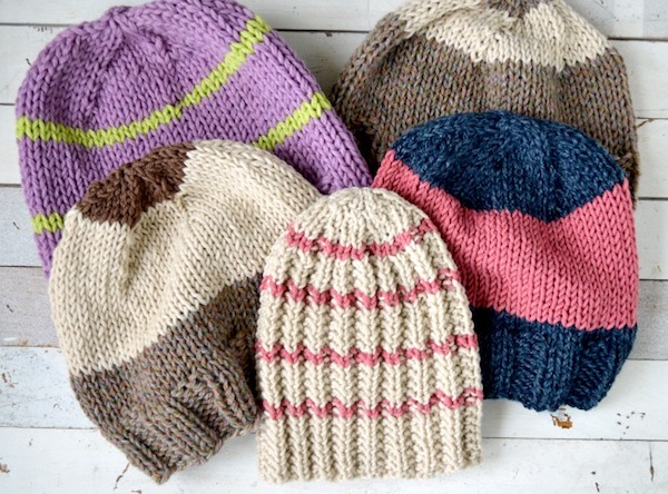 Free Knitting Patterns for Gifts-5 knitted hats