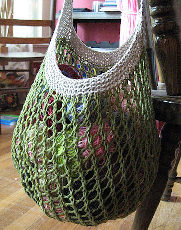 Knitted Girlfriend Market Bag-Ravelry