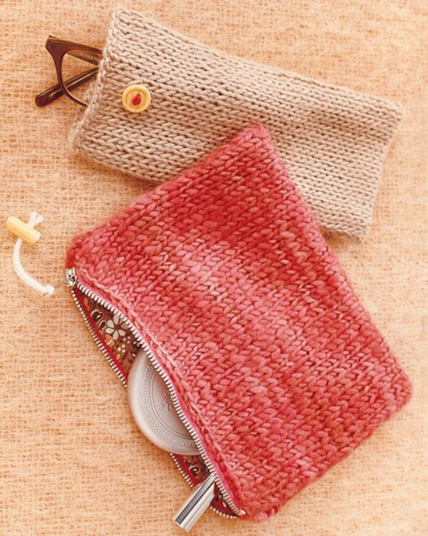 Knit-Pouches-Martha Stewart