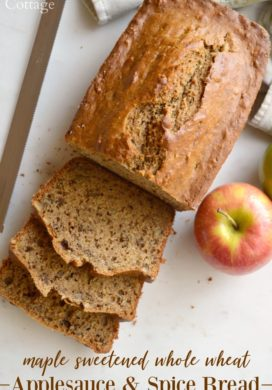 Maple Sweetened Applesauce and Spice Bread