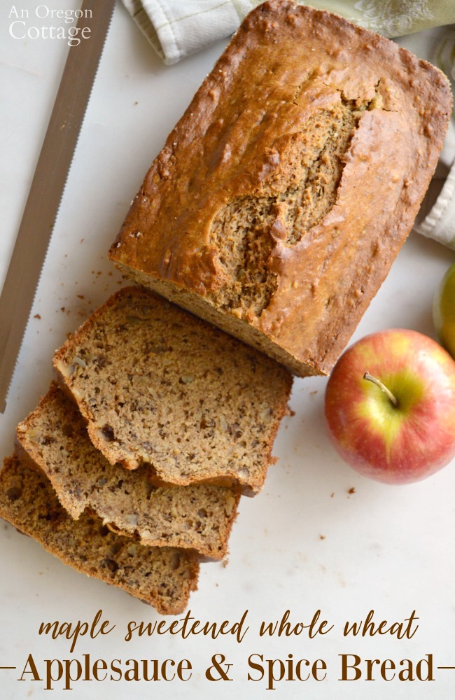 Maple Sweetened Applesauce and Spice Bread Recipe
