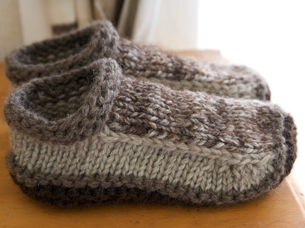 Non-Felted Knitted Slippers-Ravelry
