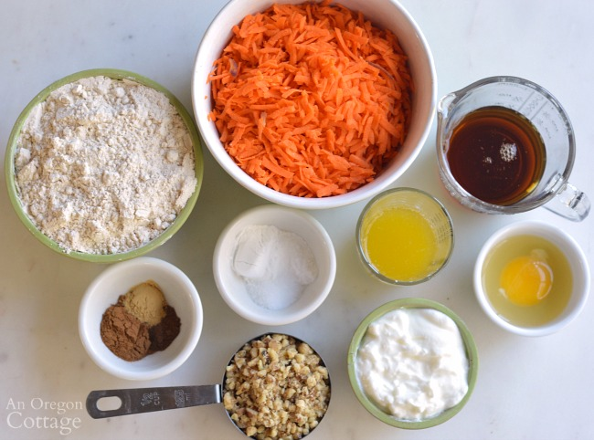 Spiced Carrot Bread Recipe ingredients