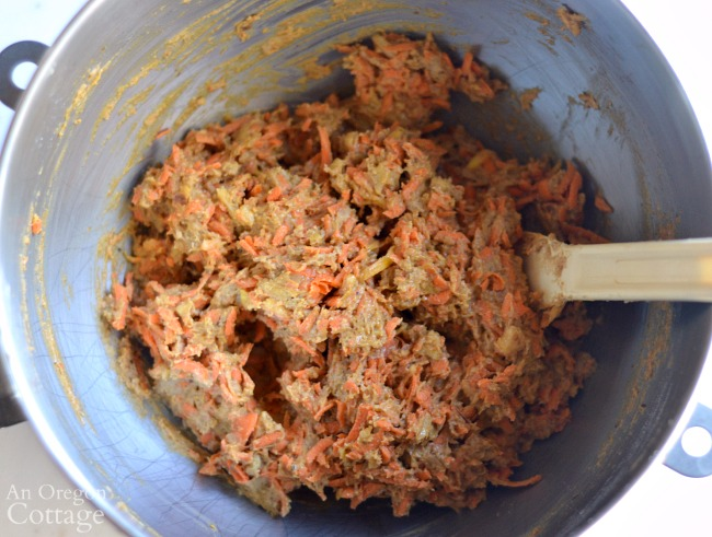 Spiced Carrot Bread Recipe-mixed dough