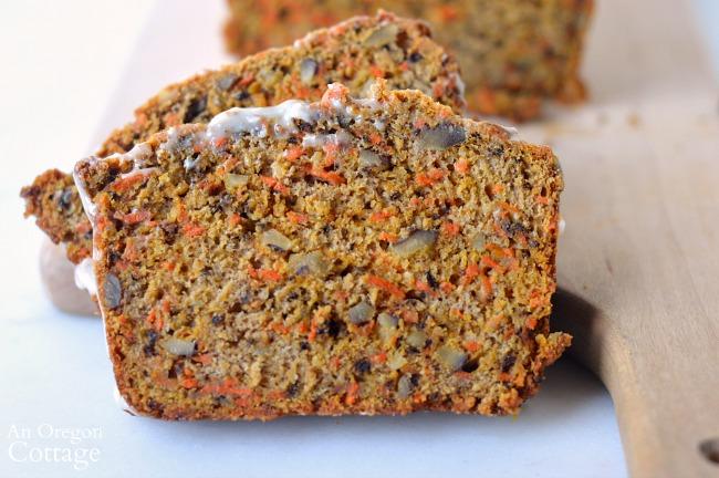 Spiced Carrot Bread Recipe-slice