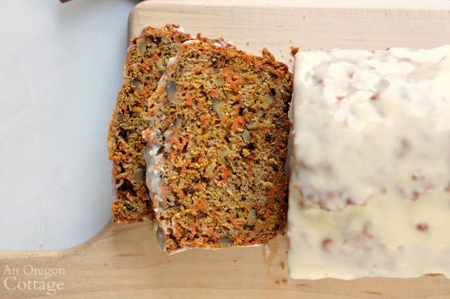 Spiced Carrot Bread Recipe-slices