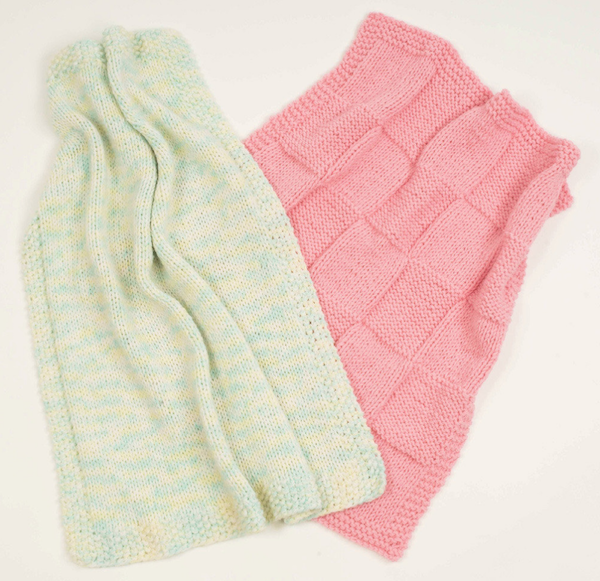 Two Fast Knitted Baby Blankets-Love Knitting