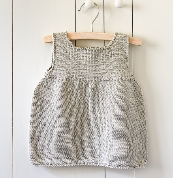 clean-simple knitted baby dress at Purl Soho