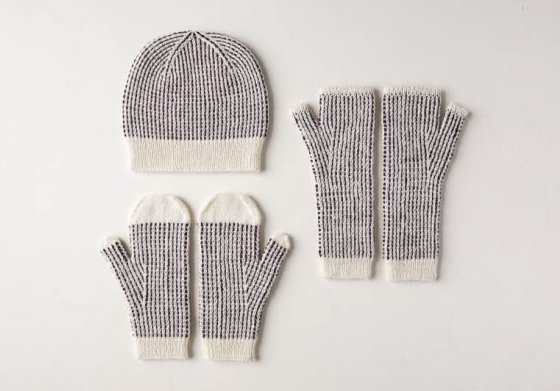 dappled-hat-mitten-and-handwarmer-set from Purl Soho