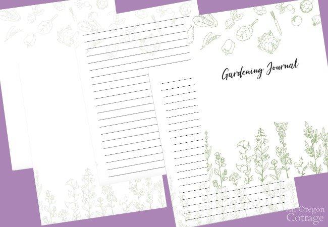 garden journal bonus pages