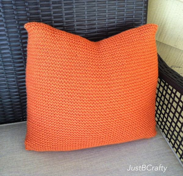 simple knit pillow-Just B Crafty