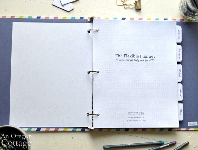 2019 Flexible Planner title page