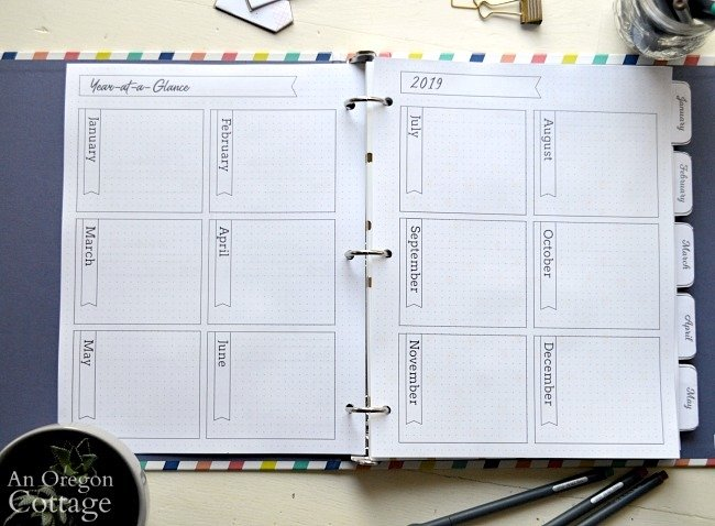 2019 Flexible Planner-year at a glance