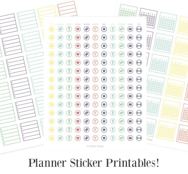 2020 Flexible Planner sticker printables