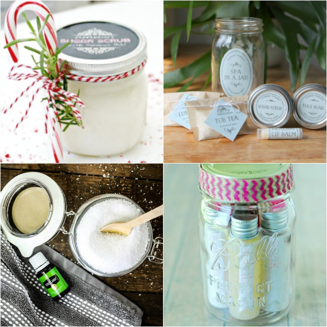 Beauty Gifts in a Jar-Mason Jar Gifts