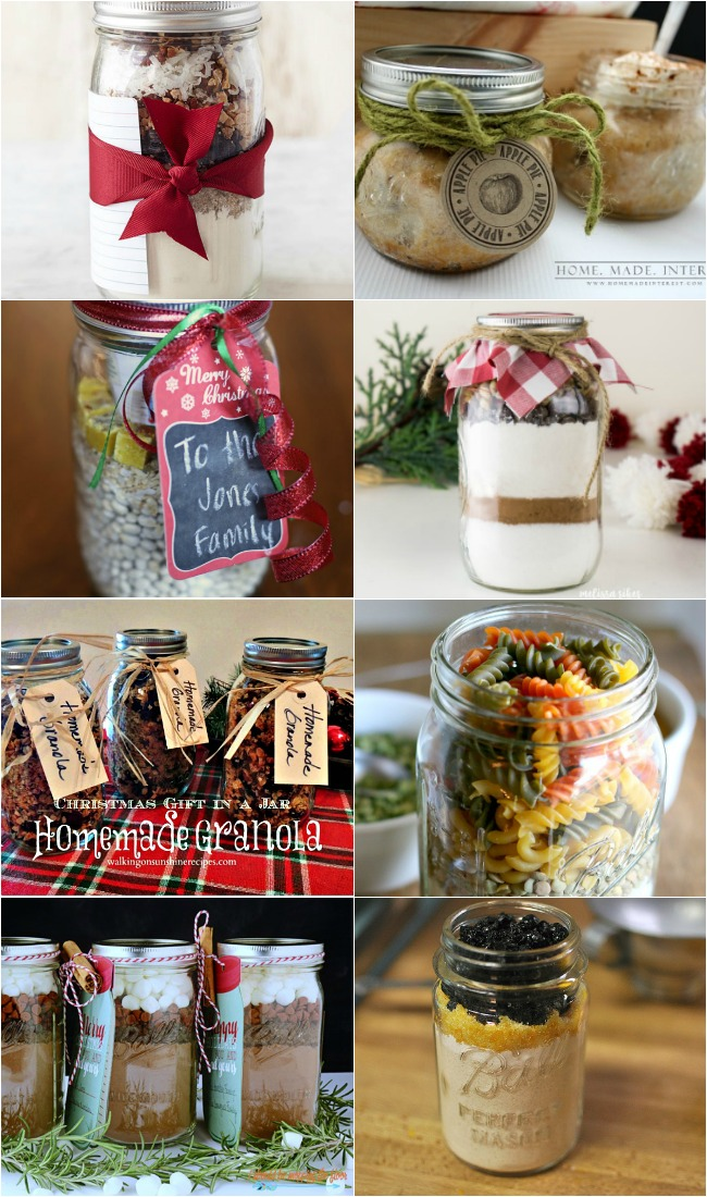 Food Gifts in a Jar-Mason Jar Gifts