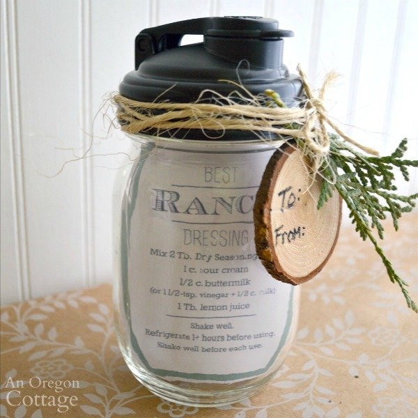 Mason Jar Salad Dressing Gift in a Jar