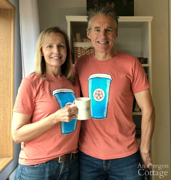 Matching coffee shirts