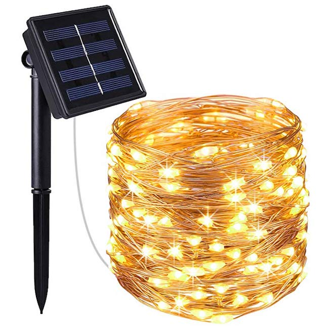 100 Solar Powered LED Copper Wire Lights
