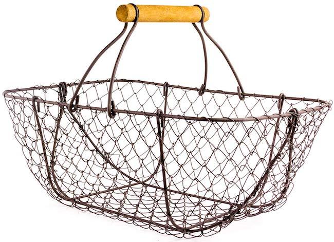 metal harvest basket