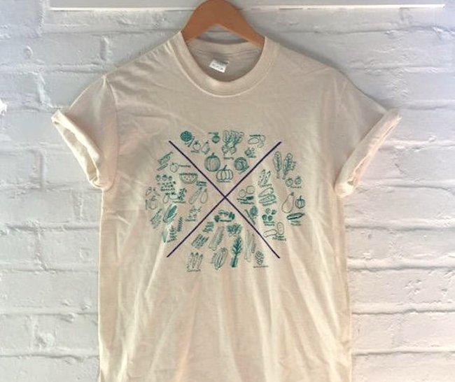 seasonal veggie t-shirt