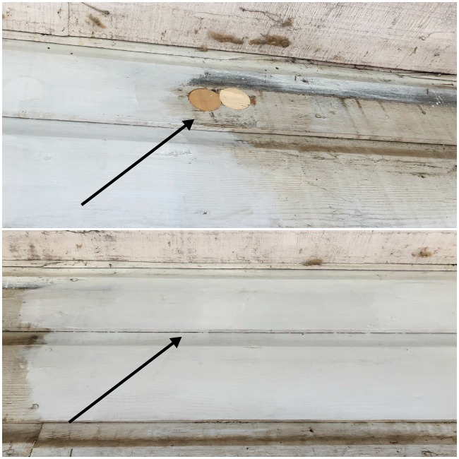 FIxing Vintage siding with insulation holes