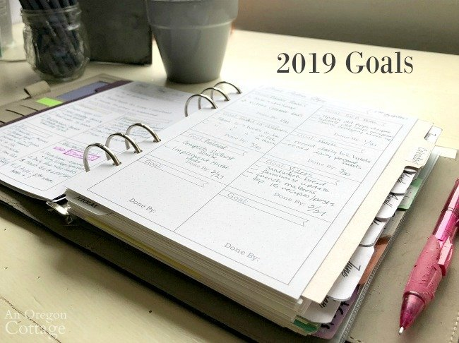 Flexible Planner Goal Action pg-2019