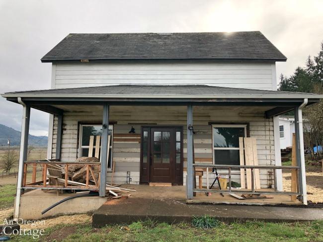Farmhouse Front porch in progress