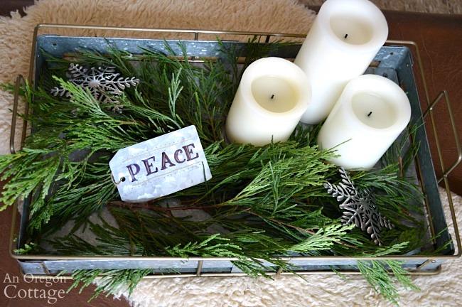 Green-Buffalo plaid Christmas Decor-coffee table tray
