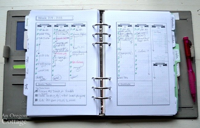 Using The Flexible Planner-hourly week