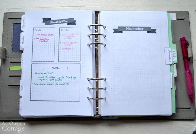 How I Use The Flexible Planner-month plan