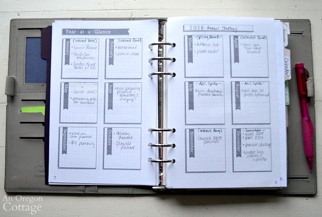 How I Use The Flexible Planner-year pages